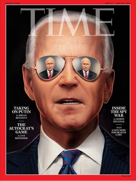 Путин в очках Байдена